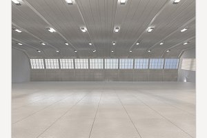 Warehouse background. 3D rendering