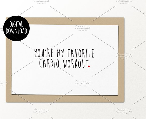 Favorite Cardio Workout Card