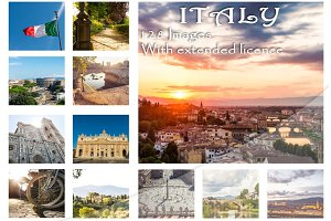 ITALY 128 beautiful Images bundle