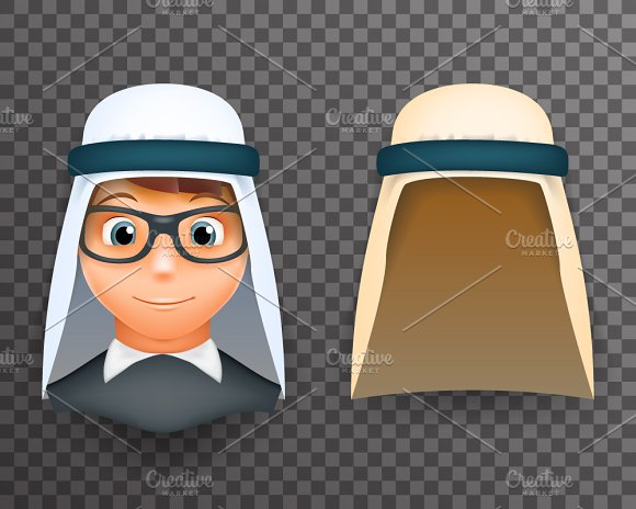 Arab Keffiyeh Mask