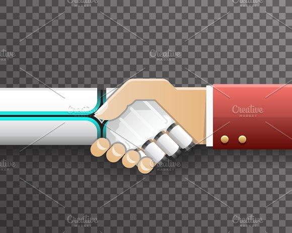 Robot Businessman Handshake