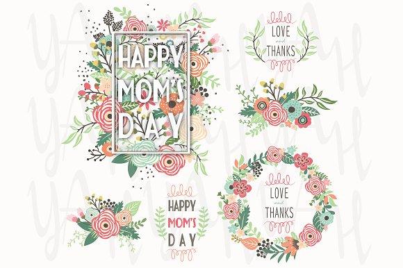 Mother's Day Floral Frame Design