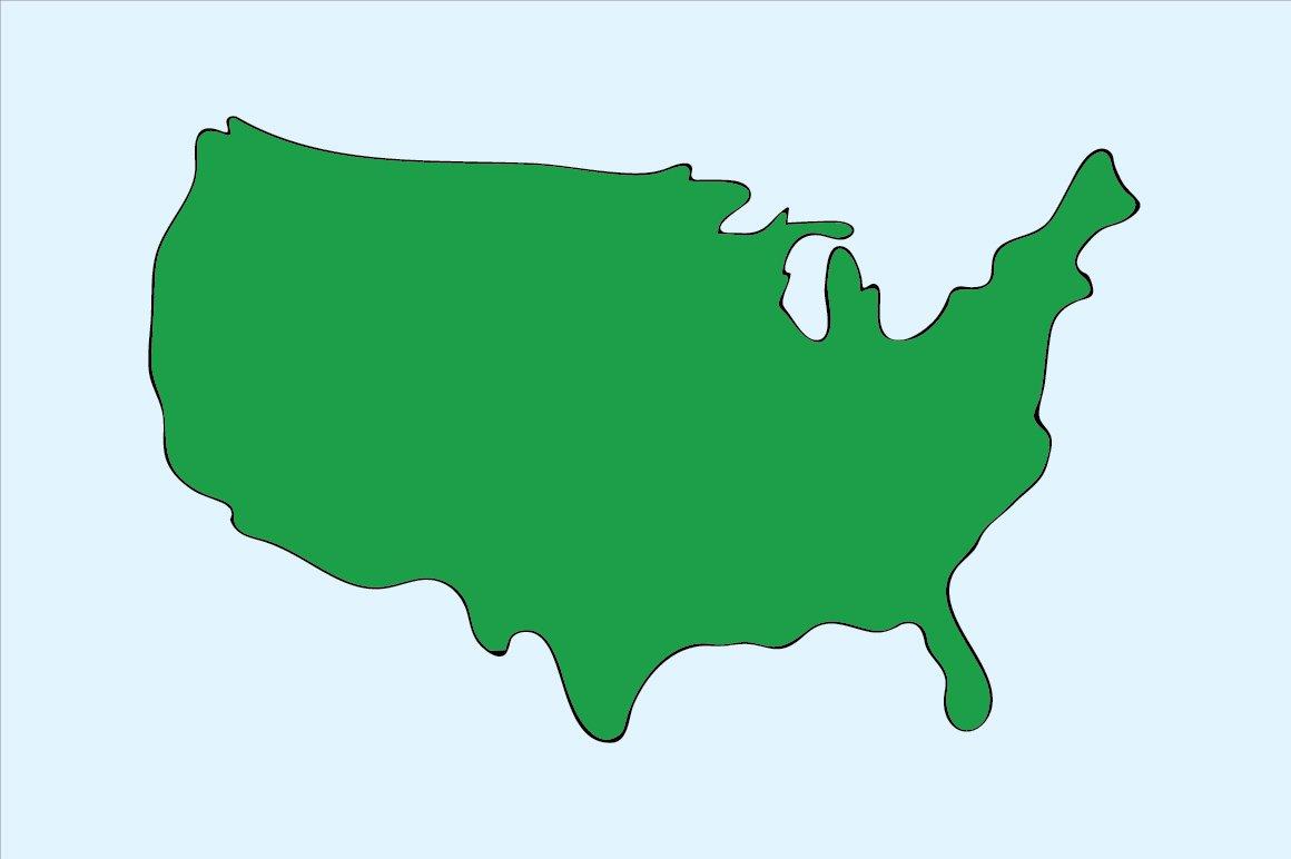 Illustration of US map (Vector) ~ Illustrations ~ Creative Market