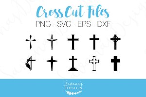 Cross Cut Files - SVG, EPS, DXF, PNG
