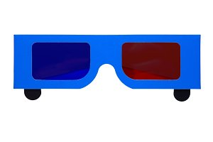 Paper anaglyph 3D glasses