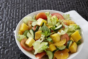 Colorful summer Vegetable salad