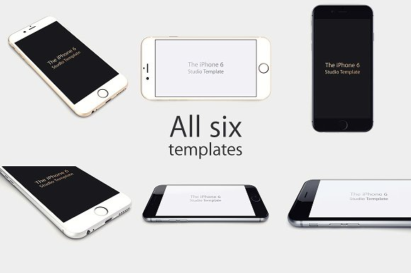 Studio iPhone 6 Templates in Product Mockups - product preview 4
