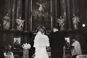 Couple during a ceremony in church
