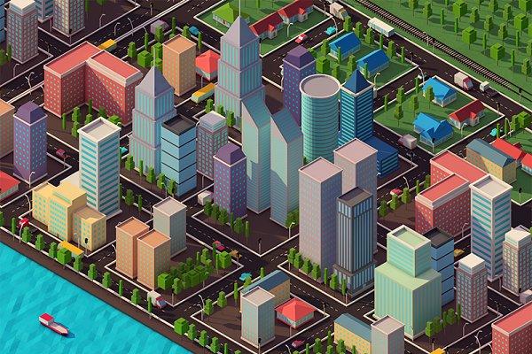 3D Architecture: Anton Moek - Low Poly City Pack