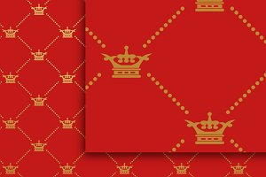 Red background. Royal