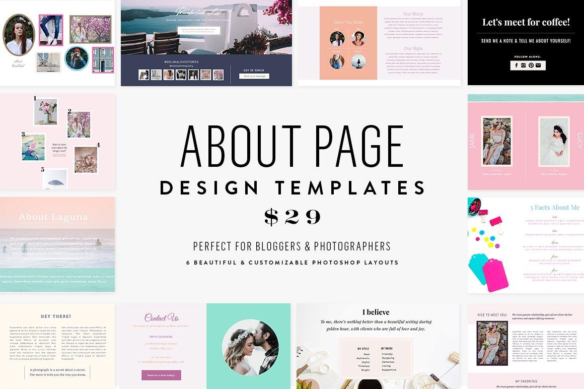 About Page Template Bundle Website Templates Creative Market