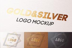 Gold & Silver & UV print mockup