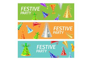 Festive Party Advertising Poster Illustration
