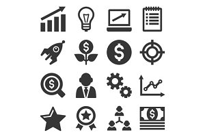 Startup Business Icons Set
