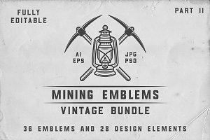 36 Vintage Mining Emblems part 2