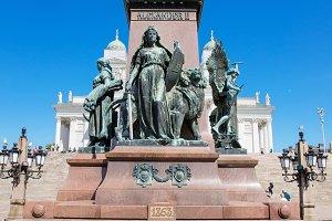 Statue of zar Alexander II