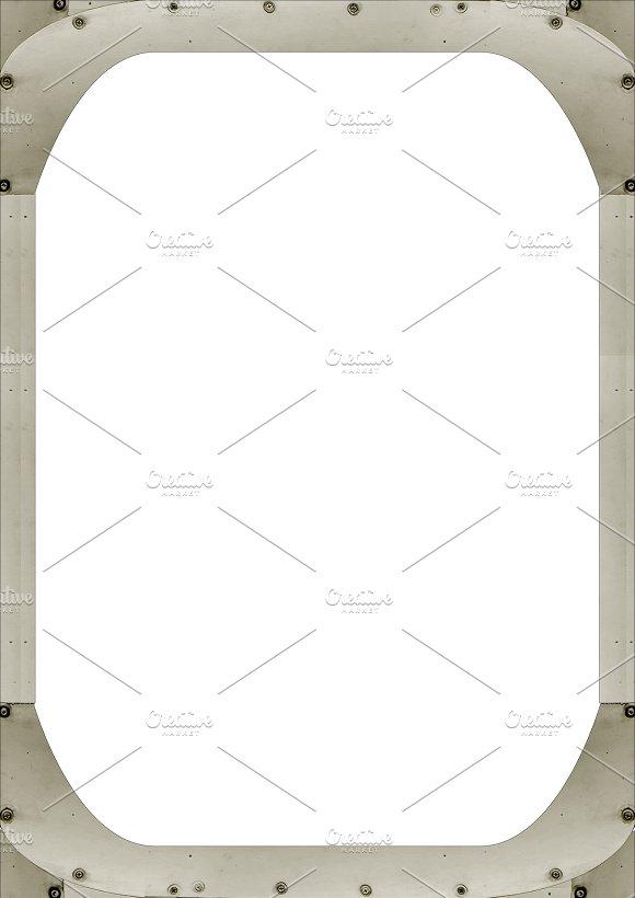 White Frame With Aluminium Border