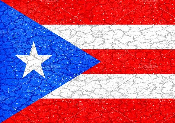 Puerto Rico Grunge Style Flag