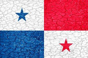 Panama Grunge Flag Style