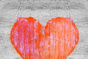 Grunge Heart Shape Graphic