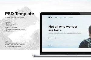 PSD Template for Blog
