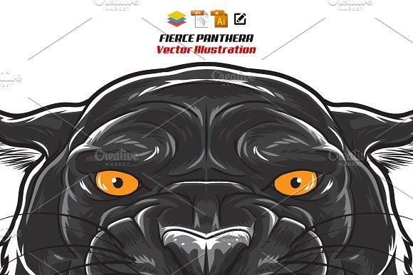 Fierce Black Panther Head