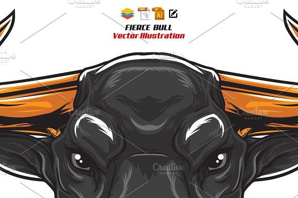 Fierce Bull Head
