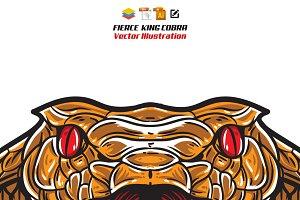 Fierce King Cobra Head