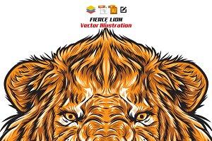 Fierce Lion Head