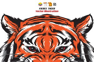 Fierce Tiger Head