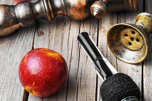 oriental hookah with orange taste