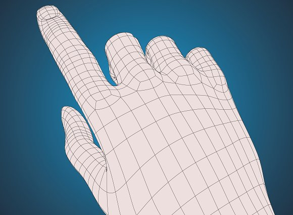 Right Hand Pointing Index Finger