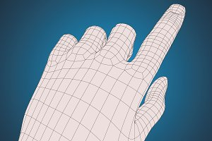 Lefht hand touching something