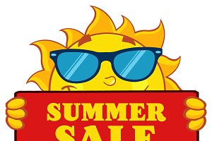 Cute Sun With Text Summer Sale