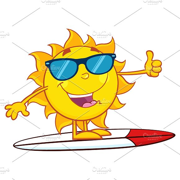 Surfer Sun Showing Thumb Up