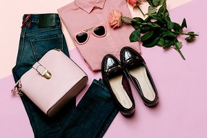 clothes set. City casual fashion.