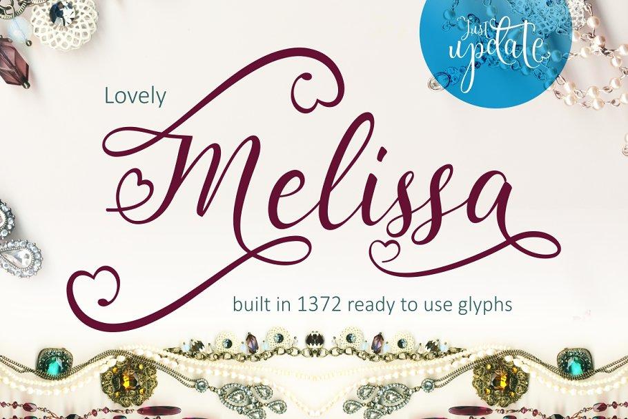 Lovely Melissa ~ Script Fonts ~ Creative Market
