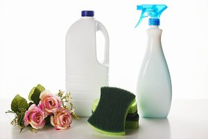 The cleaning chemistry and flowers