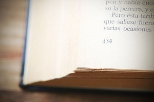 Close-up of a book page