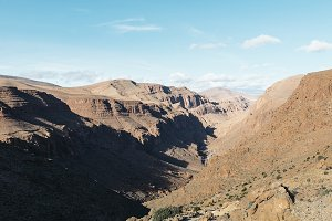Dry rock mountainous desert.