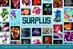 Surplus: 32 Abstract Paint Textures