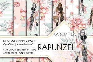 Rapunzel Digital Paper