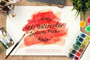500 Watercolor Textures Packs