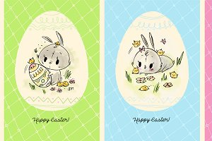 Easter Bunny cards and pattern