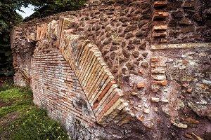 Brick ruins background