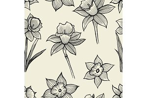 hand drawn spring flowers
