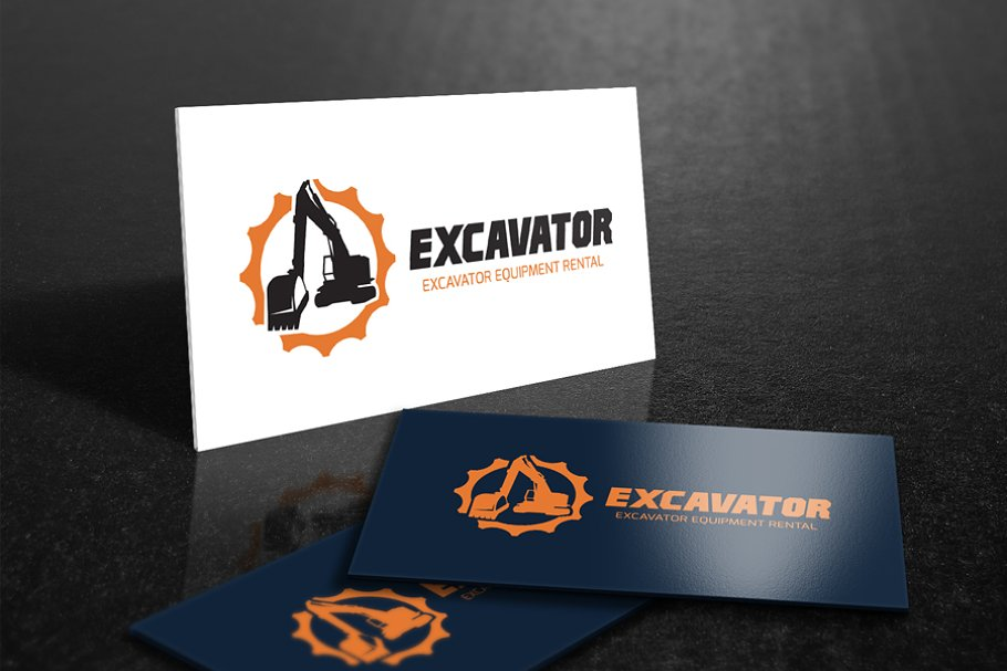 Excavator in Logo Templates - product preview 8
