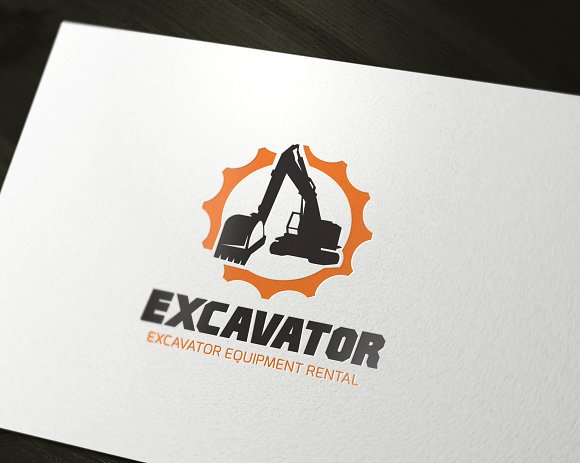 Excavator in Logo Templates - product preview 1