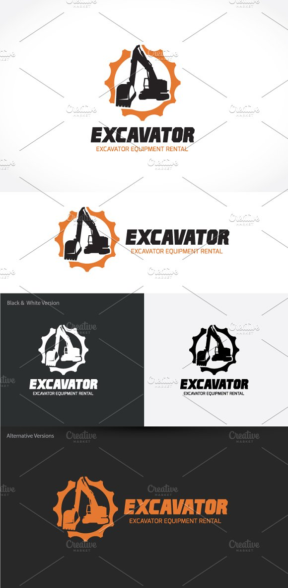Excavator in Logo Templates - product preview 2