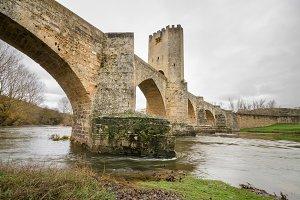 medieval bridge in Frias, Spain.